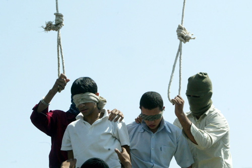 gay iranian execution, mashad, july 2005